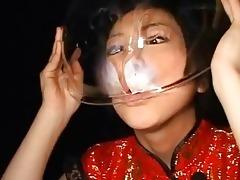 foxy oriental legal age teenager swallows massive