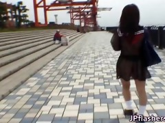 mikan enjoyable oriental student shocks