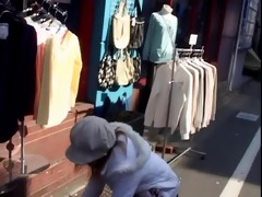 giggly youthful oriental picked up on street and