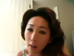 oriental babe with large melons enjoys a hard