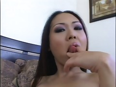 nude oriental nyomi fingers her asshole and vagina