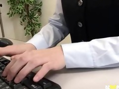 submissive breasty clerk hiding office sex