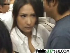 hot asians cuties receive group-fucked in public