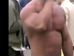 oriental bodybuilder barely overspread at the