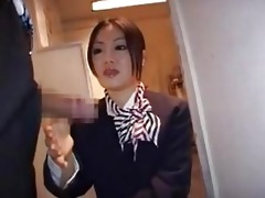 japanese stewardess tugjob - part 7