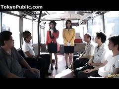 japanese bus angels in uniform - public 341872