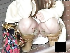 upskirt pants outdoor captured by hidden webcam