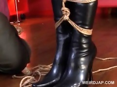roped asian preggy sex bondman receives biggest