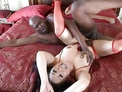 dark haired asian honey receives stretched by