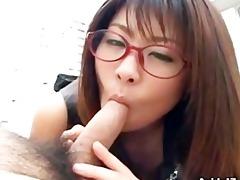 japanese mimi kousaka gives a ideal blowjob