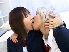 school japaese lesbian unfathomable giving a kiss