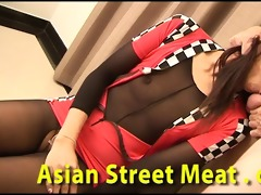 oriental race queen swallows semen readily