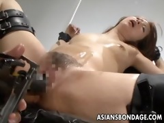 naughty oriental bitch in thraldom receives her