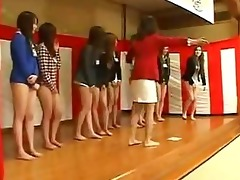 recent japanese employees undress from waist down