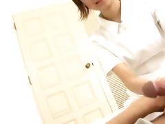 adorable nurse miriya examines her patients weenie