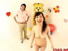 japanese av model tastes her own bawdy cleft