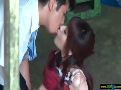 outdoor perverted japanese gal acquire screwed
