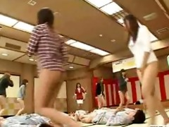 bottomless no panties japanese employees play sex