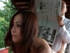 outdoor oriental hardcore fuck with redhead