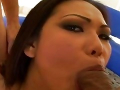 dirty oriental gal with diminutive love melons