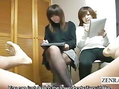 subtitled weird japanese cfnm erection art class