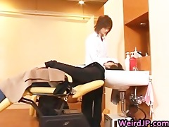 asian model is a hairdresser in a hawt part8