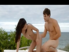 ultra hot oriental loving on the beach