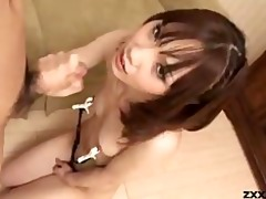 japanese angel gives oral pleasure with nipps