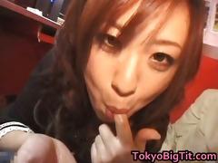 nana aoyama engulfing weenie in coffee shop part7