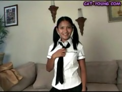 asian schoolgirl striptease - kat juvenile