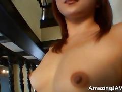 sexy japanese redhead masturbating movie scene