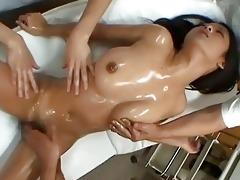 japanese doll satomi suzuki who enjoys a massage