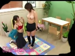 a pair of sexy oriental cuties have a fun