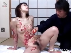 oriental ravishing hottie acquires hawt wax