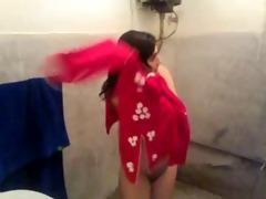 n.indian hotty dressing after bathroom captured