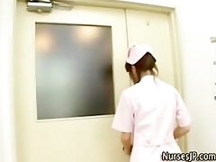 japanese nurse collecting jism