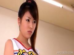 oriental teenie shows sexy boobs