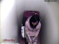 japanese beauty masturbating hard on throne-room