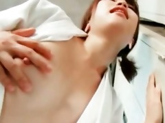 oriental hotty filling her juicy cum-hole with