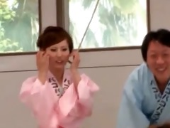 sexually excited group of japanese geishas