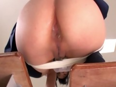 lascivious oriental school cutie sucks knob