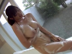 breasty cutie in shower