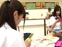 censored asian employee copulates customer funny