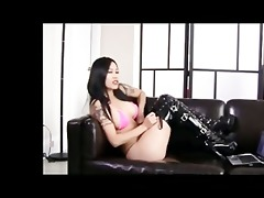 asian cutie uses large western cock size to abase