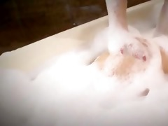 beautiful megu kamijyou takes a relaxing bathroom