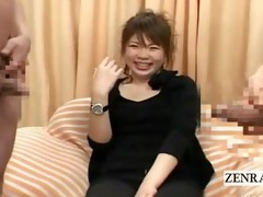subtitled japanese cfnm strange pecker interview