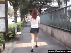 japanese beauty flashing in public and banging