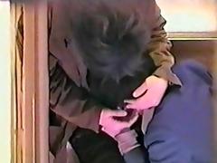 voyeur sex on apartment stairs