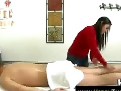 good looking oriental giving a worthwhile massage