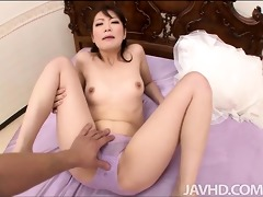 japanese model tomoka sakurai filled with rod